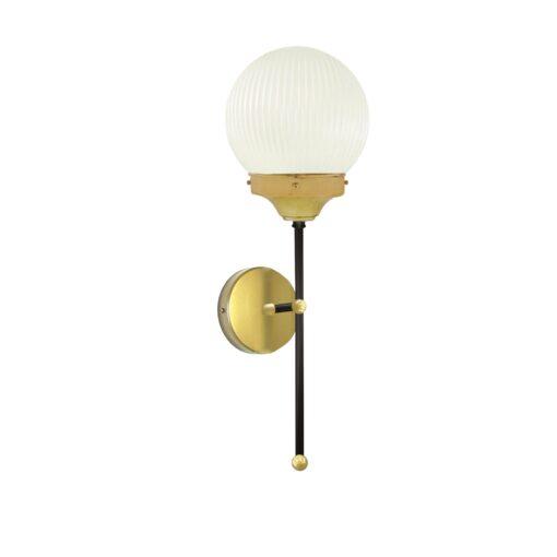 Satin Brass Prismatic Globe Wall Light