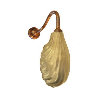 Satin Brass Scallop Shell Wall Light