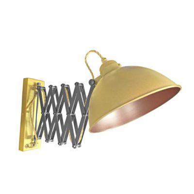 Satin Brass Scissor Arm Wall Light Bronze Inner