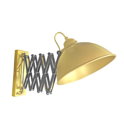 Satin Brass Scissor Arm Wall Light