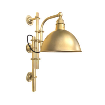 Satin Brass Steampunk Wall Light