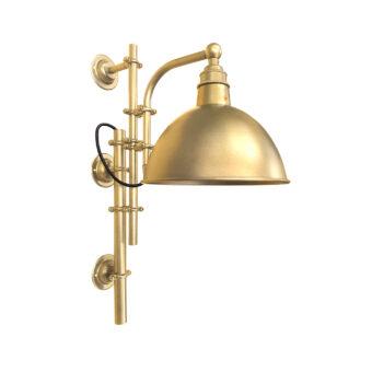 Satin Brass Steampunk Wall Light