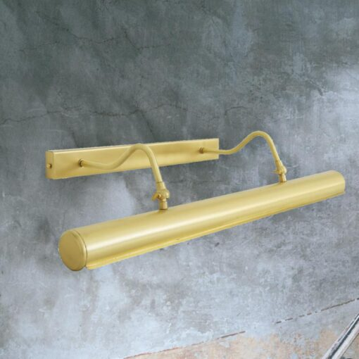 Satin Brass Twin Arm Picture Light