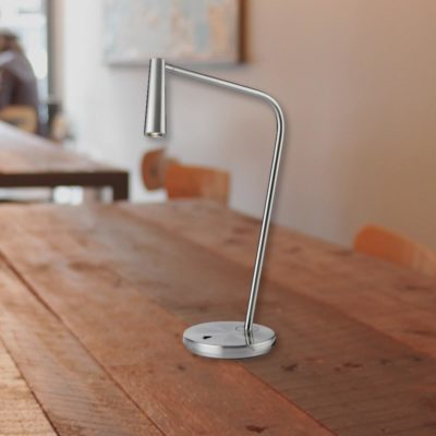 Satin Nickel Bedside LED Task Lamp