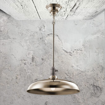 Nickel Semi Flush Pendant Light