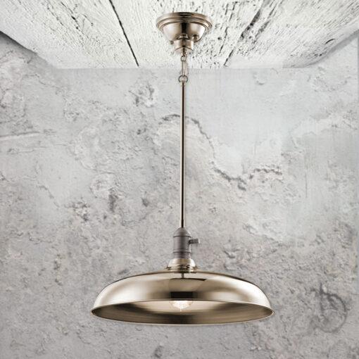 Nickel Semi Flush Pendant Light