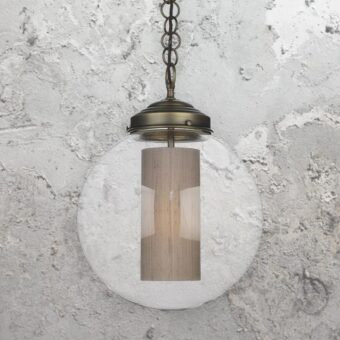 Shade Industrial Clear Glass Globe Pendant Light