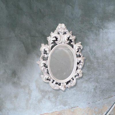 traditional silver decorative wall mirror