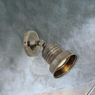 directional antique silver industrial spotlight