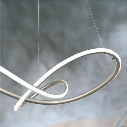 Silver LED Hoop Pendant Light