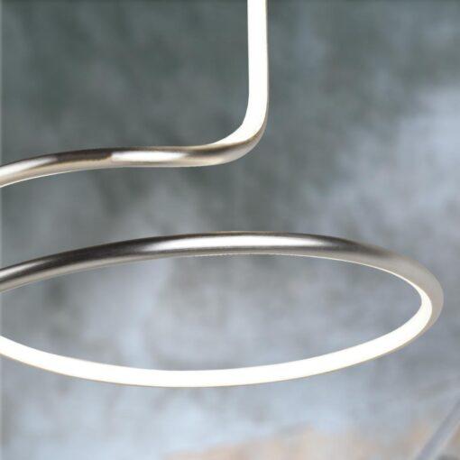 Silver LED Swirl Flush