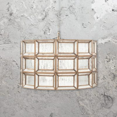 Silver Moroccan Glass Cylinder Pendant Light