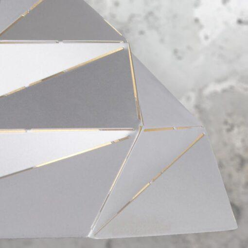 Silver Origami Dome Pendant Light