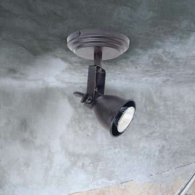 Single Brown Ceiling Spotlight