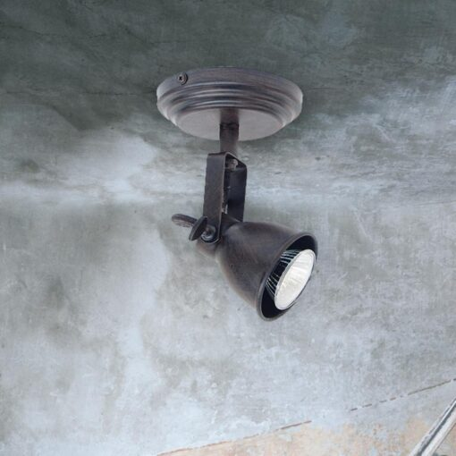Single Brown Ceiling Spotlight