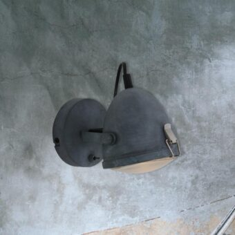 Single Industrial Grey Spotlight