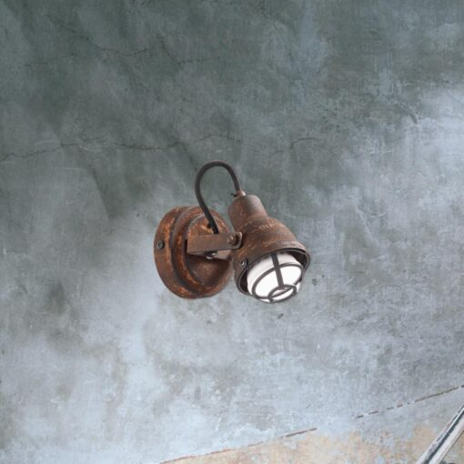 Single Rustic Cage Spotlight