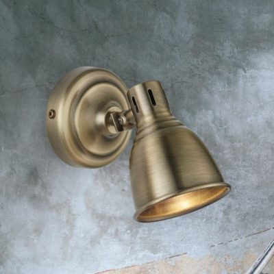 Single Vintage Brass Spotlight