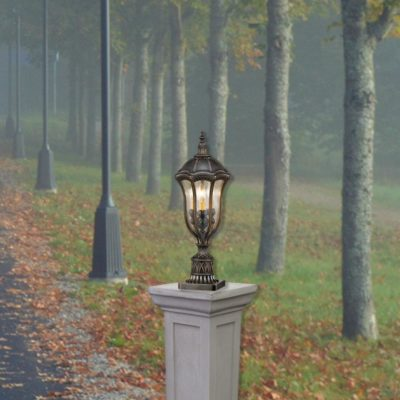 Small 3 Light Traditional Bollard Light Fitting