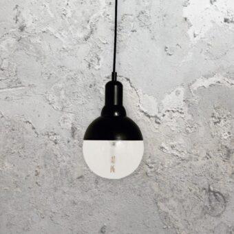 Small Matt Black Globe Pendant Light