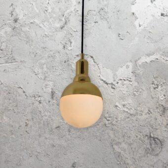 Small Gold Globe Pendant Light