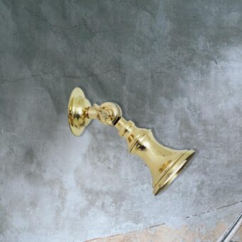 directional small traditional brass spotlight