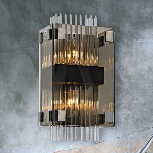 Smoked Crystal Rods Wall Light