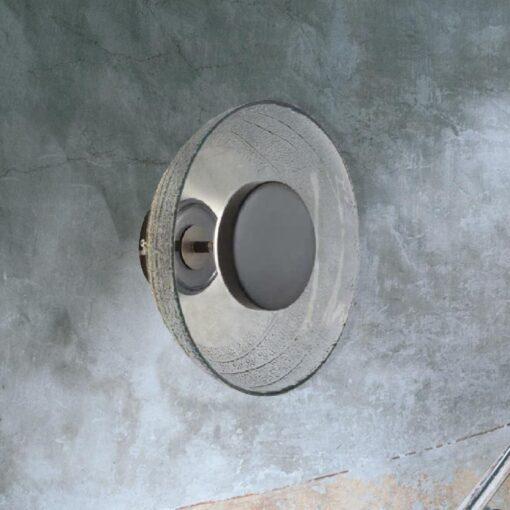 Smoked Glass Bowl Wall Light