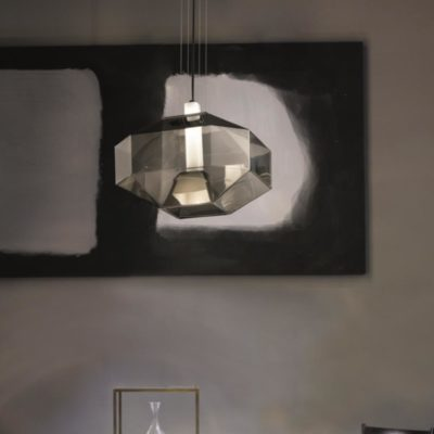 Smoked Glass Geometric Pendant Light