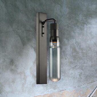 Smoked Glass Tube Wall Light