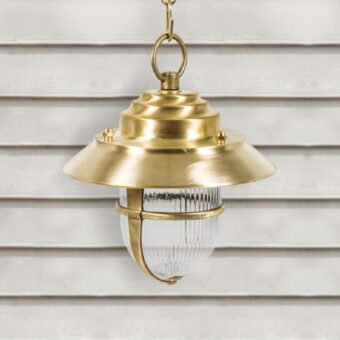 Solid Brass Outdoor Pendant Light