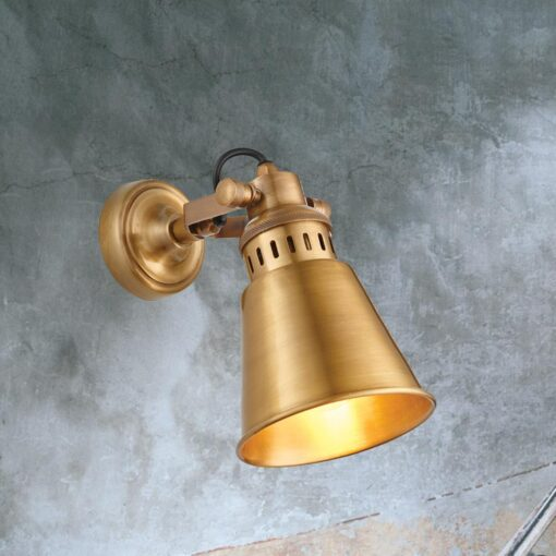 Solid Antique Brass Wall Light