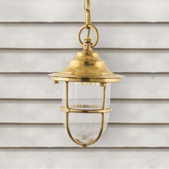 Natural Brass Outdoor Pendant Light