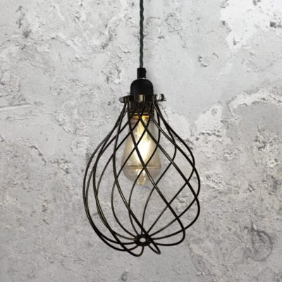 Spiral Cage Pendant Light CLB-00548-Black-Twisted