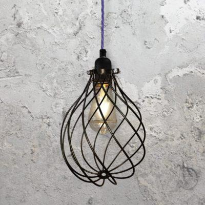 Spiral Cage Pendant Light CLB-00548 Purple