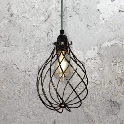 Spiral Cage Pendant Light CLB-00548-Tweed