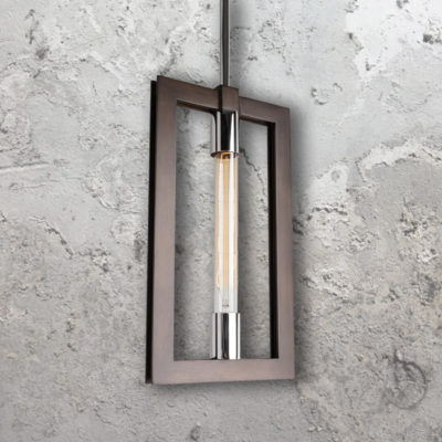 Steel Bronze Frame Pendant Light