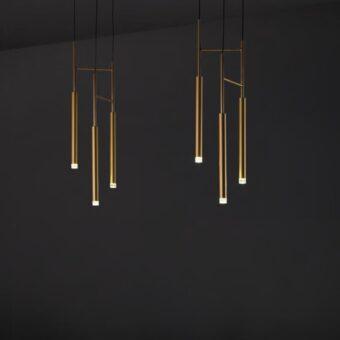 Suspended LED Tube Pendants 3 Light