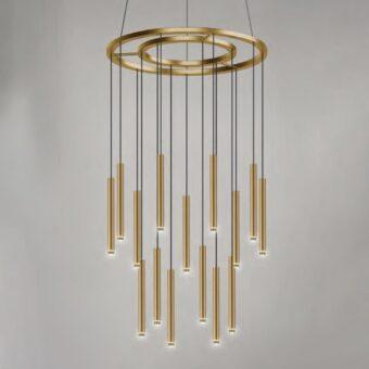 Suspended LED Tube Pendants Chandelier Feature