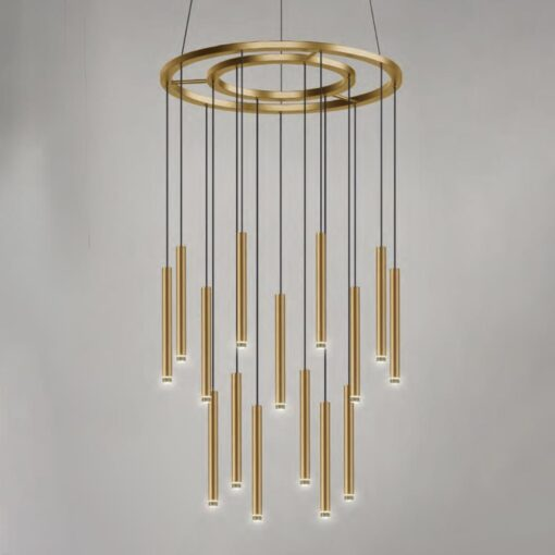 Suspended LED Tube Pendants Chandelier Feature