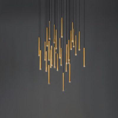 Suspended LED Tube Pendants Cluster