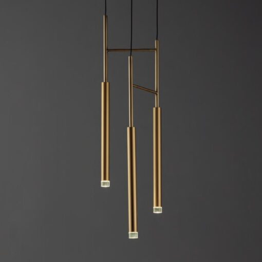 Suspended LED Tube Pendants Triple Multi Light