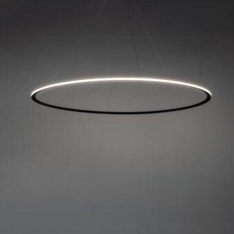 Suspended Medium Outwards LED Ring Pendant Chandelier