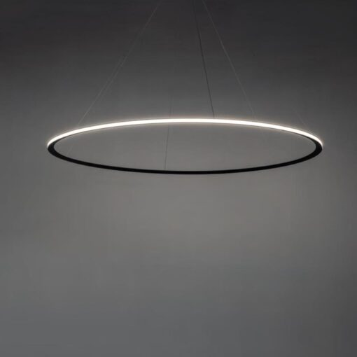 Suspended Medium Outwards LED Ring Pendant Chandelier