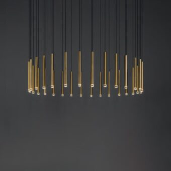 Suspended Round LED Tube Pendants Cluster