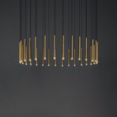 Suspended Round LED Tube Pendants Cluster