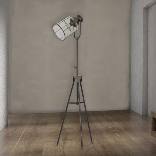 Tall Vintage Glass Cage Tripod