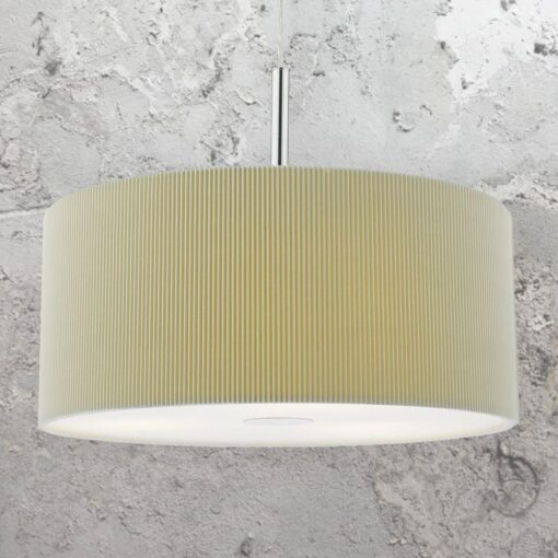 Taupe 40cm Drum Pendant Light