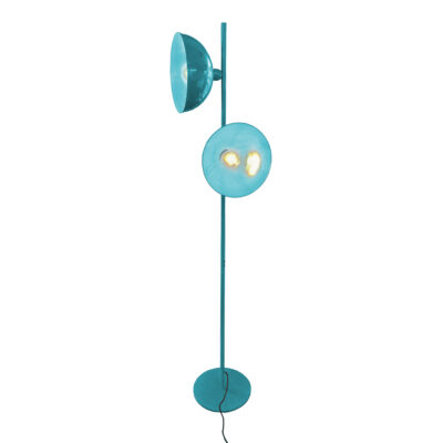 Teal 2 Light Retro Floor Lamp