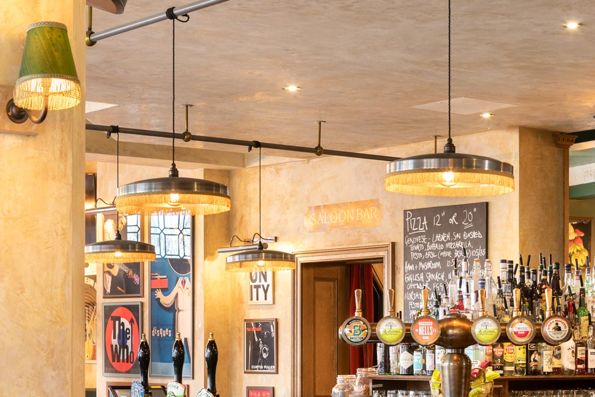 The Bedford, London Industrial Pendants